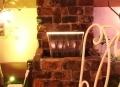 照明付き滝 LEDライト流れ おしゃれ 簡単施工滝
