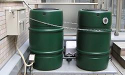 雨水タンクポンプ付ユニット