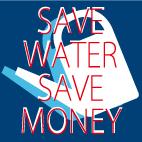 雨水を貯めます。